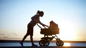 Baby in Stroller Without Car Seat For Outdoor